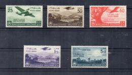 Italia - Regno - 1936 - Bimillenario Della Nascita Di Orazio - 5 Valori - Posta Aerea - Nuovi ** - (FDC17037) - 1900-44 Vittorio Emanuele III