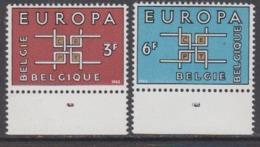 Europa Cept 1963 Belgium 2v (plate Number In Margin) ** Mnh (44821C) - Europa-CEPT