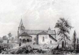 99Mq  Litho Lithographie De J. Philippe 40 Labrit L'église - Labrit