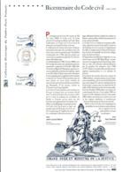 DOCUMENT FDC 2004 BICENTENAIRE DU CODE CIVIL - Documenten Van De Post