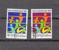NATIONS  UNIES  VIENNE   1984    N° 45-46    OBLITERES   CATALOGUE YVERT - Centre International De Vienne