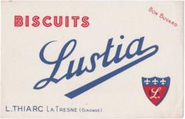 Buvard. Biscuits LUSTIA. L. Thiarc. La Tresne (Gironde) - Alimentaire