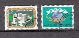 NATIONS  UNIES  VIENNE   1987    N° 73-74    OBLITERES   CATALOGUE YVERT - Centre International De Vienne