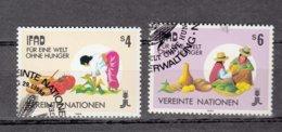 NATIONS  UNIES  VIENNE   1988    N° 79-80    OBLITERES  CATALOGUE YVERT - Centre International De Vienne