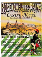 Rosendaël Les Bains Dunkerque, Casino ( De Malo) Hôtel Table D'Hôte , Restaurant - Francia