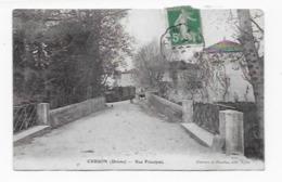26  CURSON RUE PRINCIPALE  TRAIN  BON ETAT (CARTE PAS COURANTE ) 2 SCANS  TAMPON AMBULANT  ROMANS à TAIN - France