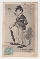 BB589 - POLICE - AGENT De La Sureté - Le Fin Limier - Illustration - Circulée 1904 - Police - Gendarmerie