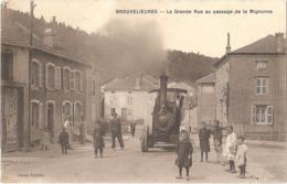 88 - BROUVELIEURES - Passage De La MIGNONNE (locomobile à Vapeur, Transport Produits Céramiques) - Env. De Grandvillers - Brouvelieures