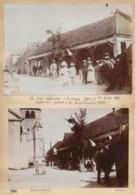 240919C - 13 PHOTOS 1896 - 89 MALIGNY Fête Nationale 14 Juillet Halle église Fanfare Train Rapide De La Vallée Du Serein - France