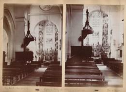 240919C - 4 PHOTOS 1896 - 10 LES RICEYS Intérieurs église De RICEY BAS églse De RICEY HAUTE RIVE - Les Riceys