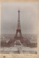240919C - 2 PHOTOS 1896 - 75 PARIS Tour Eiffel Vue De La Tour Est Du Trocadéro - 10 RICEY église - Eiffelturm