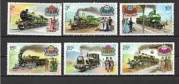 LIBERIA 1973 LOCOMOTIVE ANTICHE YVER. 599-604 USATA VF - Liberia