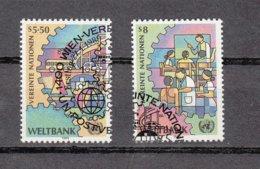 NATIONS  UNIES  VIENNE   1989   N° 89-90    OBLITERES  CATALOGUE YVERT - Centre International De Vienne
