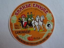 Etiquette De Fromage Camembert Grande époque Attelage Cheval Celles Sur Belle  Deux Sèvres 79 - Cheese