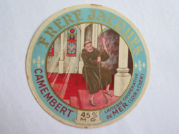 Etiquette De Fromage Camembert Frère Jacques Laiterie De Mer Loir Et Cher 41 - Formaggio