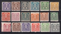 OOSTENRIJK Yt. J36/54P MH* Dagbladzegels Private Perf. 1920-1921 - Newspapers