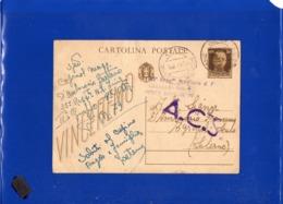 ##(ANTOC1)-Italia 29-7-1944-Cartolina Postale Cent.30 Timbro 35° Regg.to Friuli Posta Militare 79 Per Agropoli (Salerno) - 5. 1944-46 Luogotenenza & Umberto II