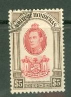 British Honduras: 1938/47   KGVI    SG161    $5    Used - British Honduras (...-1970)