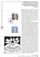 DOCUMENT FDC 2003 40 ANS TRAITE FRANCO-ALLEMAND - Documents De La Poste