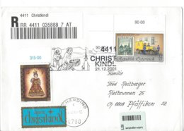22355 -  Christkindl 12.12.2001 Einschreiben Pour Pfäffikon - Weihnachten