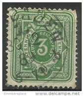Germany  - 1880 Numeral  Pfennig Issue 3pf Used  Sc 37 - Germany