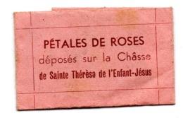 Relique Souvenir Pétale De Rose Châsse   Sainte Thérèse Enfant Jésus - Religion & Esotericism
