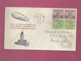 Lettre De 1934 Pour Les EUAN - U.SS. Macon - Zeppelins
