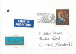 22359 - Christkindl 15.12.1999 Pour Mörschwil + Vignettes - Noël