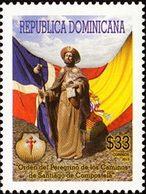 DOMINICAINE Pèlerinage De Saint-Jacques-de-Compostelle 1v Neuf ** MNH - Dominicaine (République)