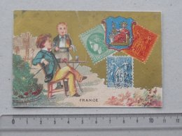 NANTES - CHROMO Magasin LAJEUNESSE MARX & Cie: FRANCE Timbres-Poste Philatélie Amoureux Toréador - Rue Du Calvaire - Autres