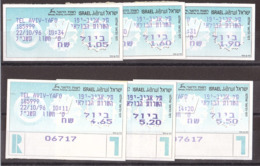 Israël - 1996 - Timbres De Distributeurs - Séries N° 15 Et 16 (6 Valeurs) - Neufs ** - Aff. Courant + Recommandé - Vignettes D'affranchissement (Frama)