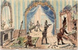 CPA Artisanale Peinte A La Main - Braves Guerriers (116534) - Other
