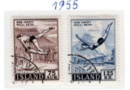 SPORT - OLYMPIC GAMES - 1955 - ISLANDA  -  Mi. Nr. 298/299 - USED - (6532-53) - 1944-... Repubblica