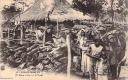 Congo Français - Un Poste à Bois Sur Le Congo - Congo Francés - Otros