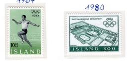 SPORT - OLYMPIC GAMES - 1955 - ISLANDA  -  Mi. Nr. 387+555 - NH - (6532-53) - 1944-... Repubblica