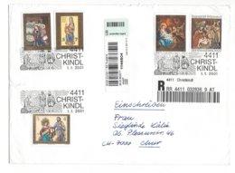 22363 - Christkindl .01.01.2001 Einschreiben Pour Chur (attention Déchirure) Grand Format - Christmas