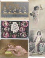LOT DE 500 CARTES FANTAISIES DIVERS. A VOIR BON LOT - Postcards