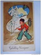 Jongen Op Klompen Met Hoefijzer Garçon Sur Sabots Fer à Chevaux Gelopen Circulée 1953 Belgique - Nieuwjaar