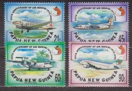 Aviation Commerciale - PAPOUASIE NOUVELLE GUINEE - Douglas DC-3, Fokker F.27, Airbus A.310-300 - N° 690 à 693 ** - 1993 - Papouasie-Nouvelle-Guinée