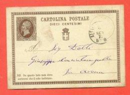 INTERI POSTALI- C1  - DA ALESSANDRIA PER SAVONA - 1861-78 Victor Emmanuel II.