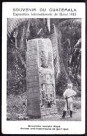 Souvenir Du Guatemala, Monolithe Sculpté Maya De Quir Igua - Monolith Sculpted By Maya - Ruines Quir Igua - Guatemala