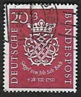 ALLEMAGNE  1950 -  YT 8 -  Bach  - Oblitéré - Cote 65e - [7] República Federal