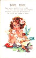 Inter-art Co Comique 4958, Fillette Et Elfes Bonne Année - Autres Illustrateurs
