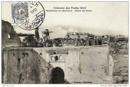MILITARIA - MAROC < COLONNE DE TADLA 1913 - MITRAILLEUSES EN OBSERVATION - DECHRA DES BRAKCA - Autres