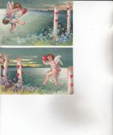 """CPA ANGES , ( Carte """"gauffrée"""" , Voyagée En 1904.) 2 Cartes... - Anges"""