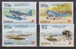 Guerre Du Pacifique - SAMOA - Hydravion Kingfisher - Avion F-4U Corsair, Barges De Débarquement - N° 814 à 817 ** - 1995 - Samoa