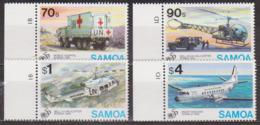 Nations Unies - SAMOA - Camion-hopital, Hélicoptères Bell, Avion Hawker Siddeley - N° 822 à 825 ** - 1995 - Samoa