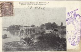 1736/ Caminho De Ferro De Benguella, Ponte Sobre O Rio Catumbella 1906 - Angola
