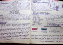 CAHIER D'HISTOIRE NATURELLE -PHYSIQUE- CHIMIE  ECOLE SUPER DESSINS Manuscrits LYCÉE UNIVERSITÉ BAC+ ...BIEN ECRIT - Other Collections