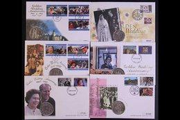 COIN COVERS BRITISH COMMONWEALTH 1997 Royal Golden Wedding Anniversary - Attractive Collection Of All Different COIN COV - Non Classificati